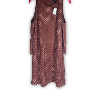 Ann Taylor Polka Dot Shift Dress, Size 12